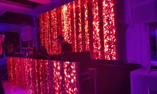 Red Curtain LED wall