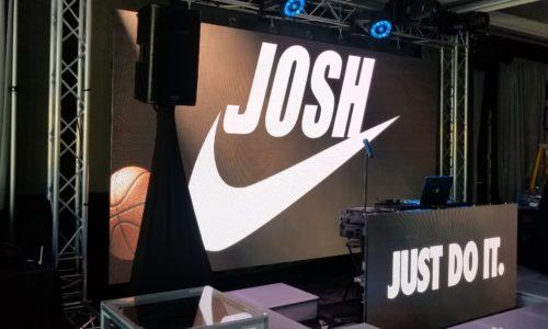 Logo on LED wall
