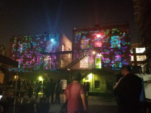 Rendon Hotel DTLA projector mapping event. WYWprod custom gfx shown here