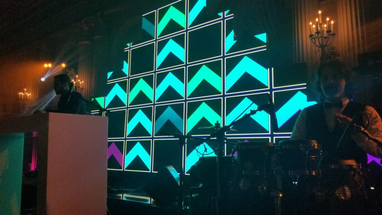 Large Pyramid LED wall design